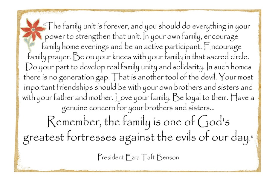 Lds other weheartfreebies for Family quotes lds