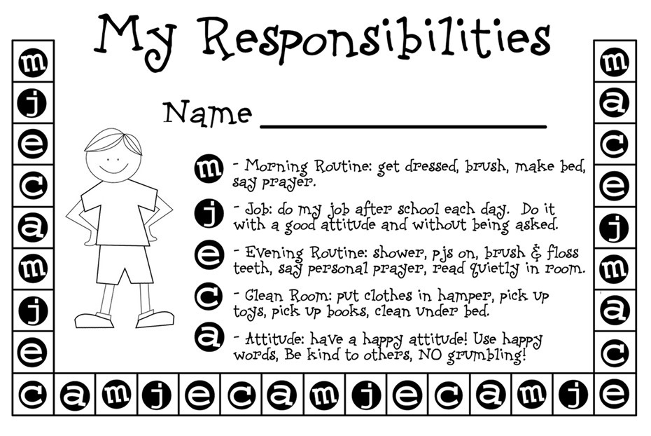 free punch card template - my responsibilities punch card weheartfreebies