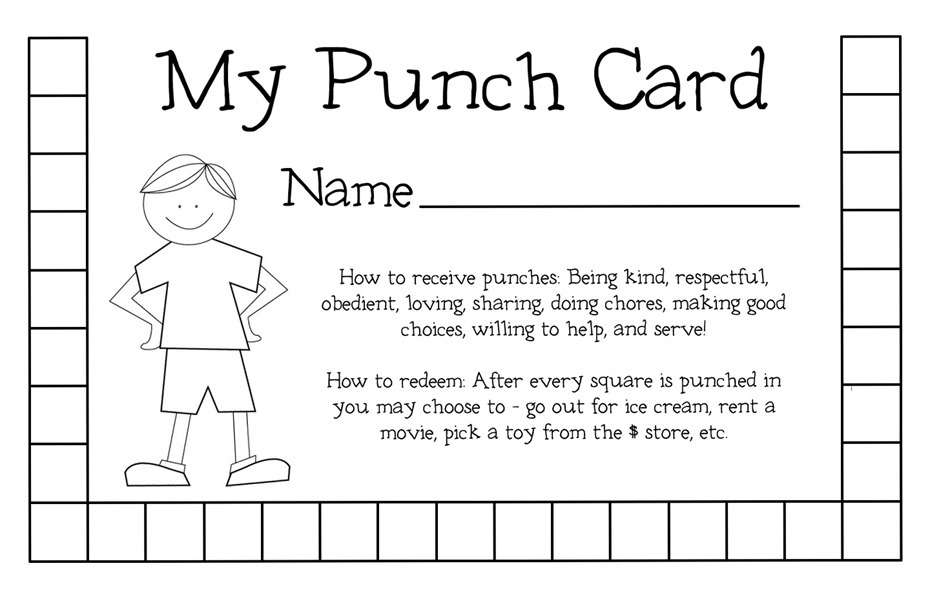 punch card template cyberuse. Black Bedroom Furniture Sets. Home Design Ideas