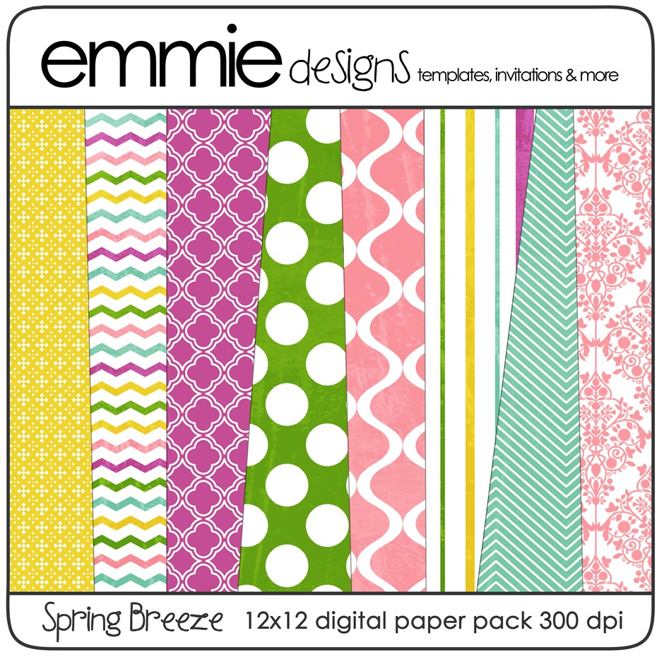 Digital Scrapbooking Kit–Spring Breeze | weheartfreebies