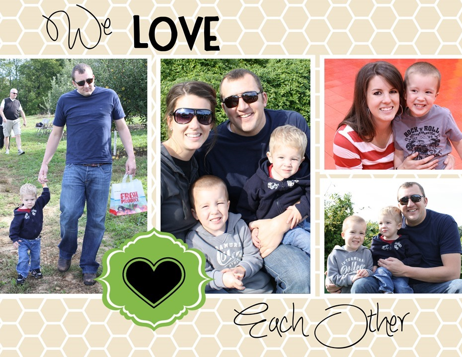 We Love Each Other: We Love Our Family Book Template